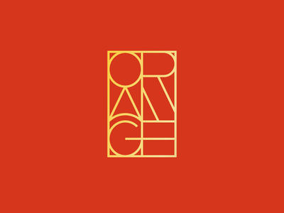 Orange graveyard emblem stained glass e g n a r o gold