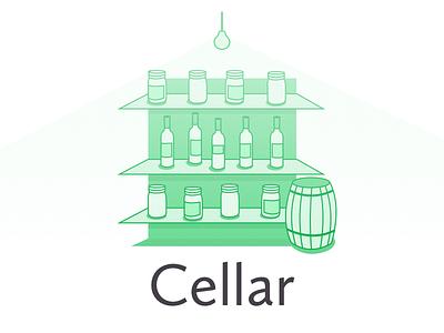 Cellar  basement cellar illustration