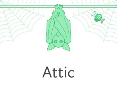 Attic bat illustration