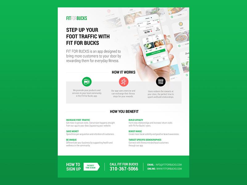Fit For Bucks Flyer uxui app design graphic design