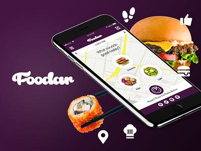 Foodar - App Concept app concept ux designer ux  ui