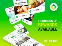 Fit For Bucks - Rewards branding visual designer illustration ux designer social media logo uxui app design