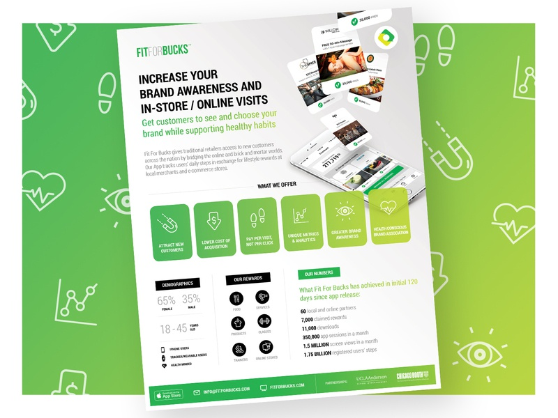 Fir For Bucks - One Sheet branding app design graphic design