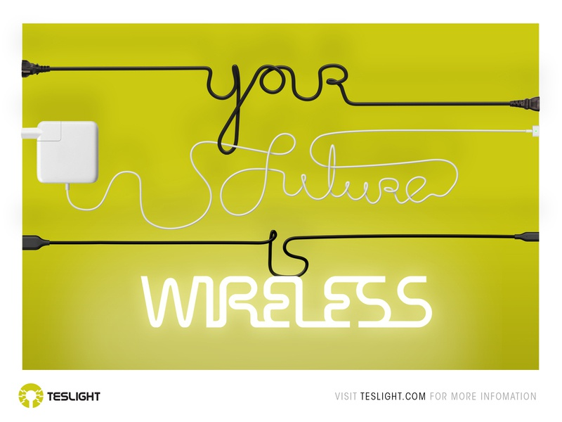 Your future is wireless graphic design branding