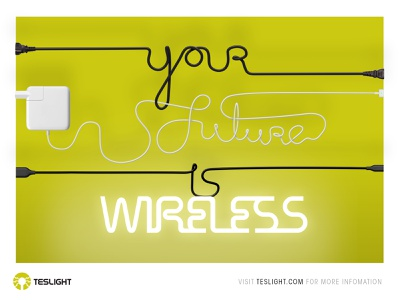 Your future is wireless graphic design branding