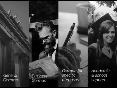 Confident German language school courses