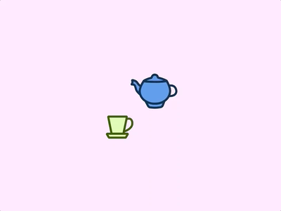 Tea SVG animation design vector gif css svg animation ui