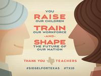 Thank You Texas Teachers - Mike Siegel