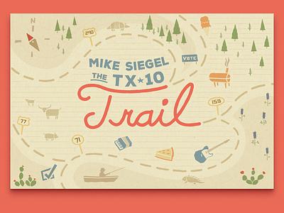 Mike Siegel - The TX-10 Trail friendly blocky highways trails maps texas democrat politics siegel