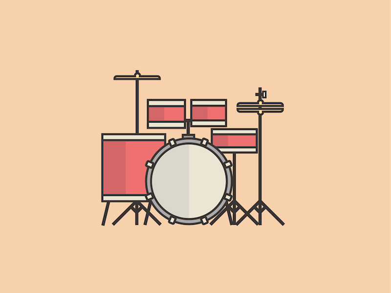 Drum Set Illustration by Emily Cheung on Dribbble