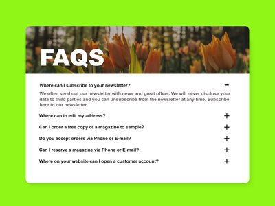 """Daily UI #92 """"F.A.Q."""" adobe xd ui minimal design"""