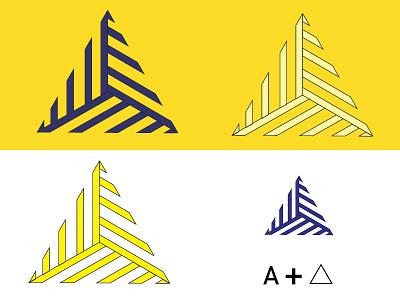 A tringle logo icon icon graphic design illustrator art clean branding logo design typography illustration