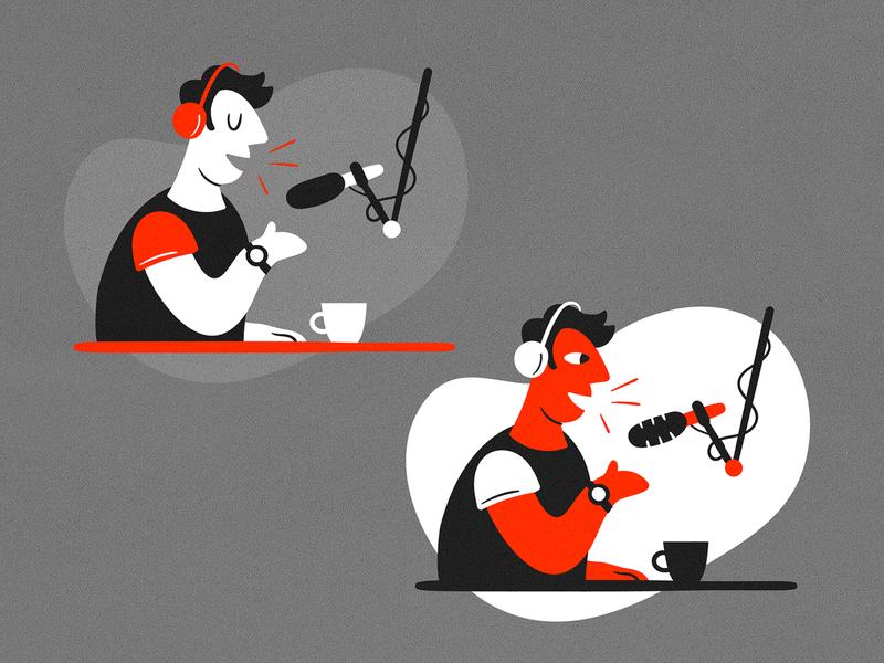 Podcaster illustration