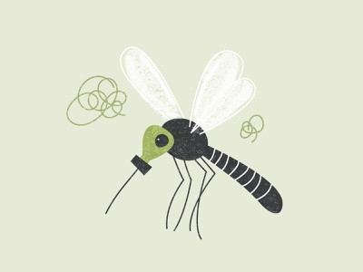 Mosquito mask air mosquito spot illustration texture simple illustration vector