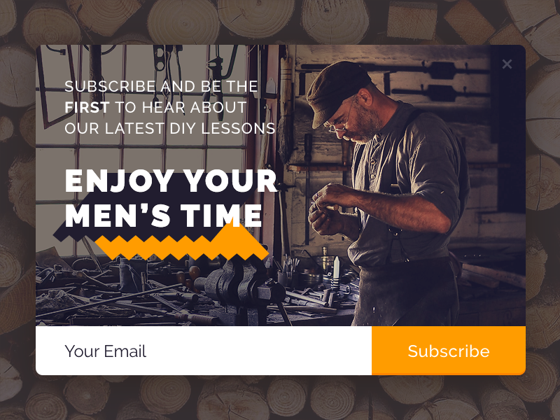 Popup E-mail Subscription email diy modal window modal box subscribe flat design ui popup