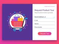 Request Product Tour - UI card