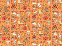 Cartoon autumn pattern