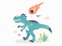 Сeratosaurus and the comet