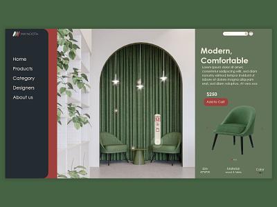 Furniture store ux flat buy minimal furniture store branding web ui design