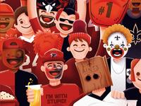 Atlanta Magazine - Falcons' fans vs Saints' fans