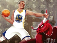 The Mercury News - Curry and the Bulls