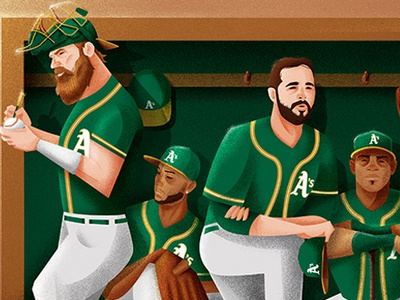 A's, what if... team bench as baseball