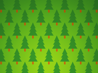 Christmas Forest iOS Wallpaper