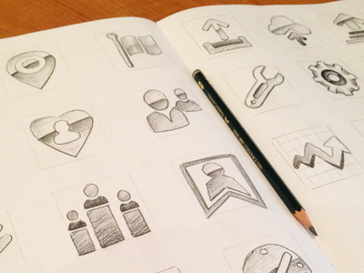 Icon Sketches - Internal Project