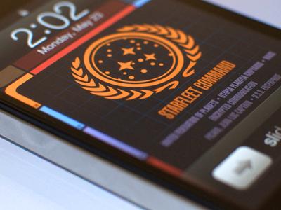 LCARS Lock & Home Wallpapers star trek lcars ui tng trek iphone ipod