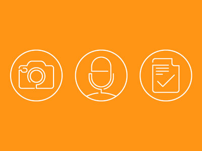 Website Line Icons modern media glyphs line icon