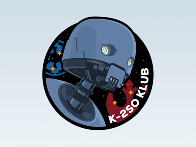 K-2SO KLUB Patch lucasfilm imperial rebel illustrator patch graphic robot droid star wars k-2so