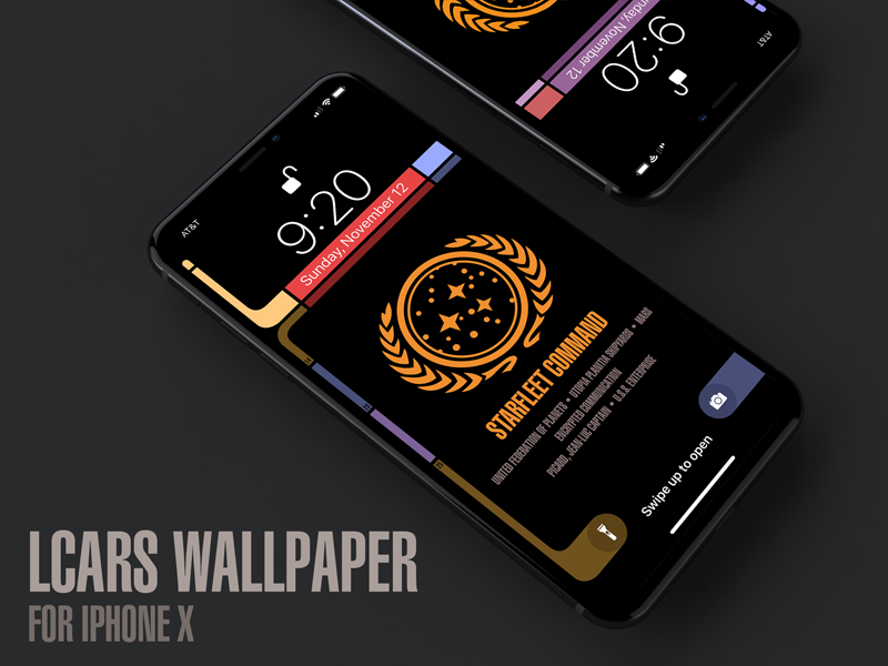Star Trek LCARS Wallpaper for iPhone X