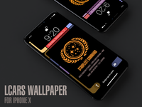 Star Trek LCARS Wallpaper for iPhone X