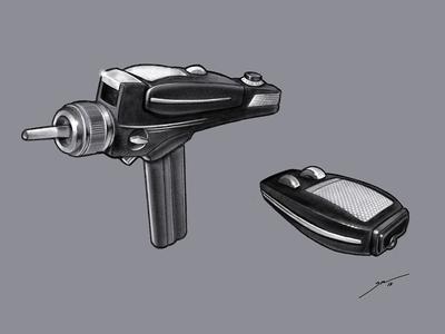 Star Trek TOS: Type 2 Phaser ipad scifi pencil linea sketch star trek