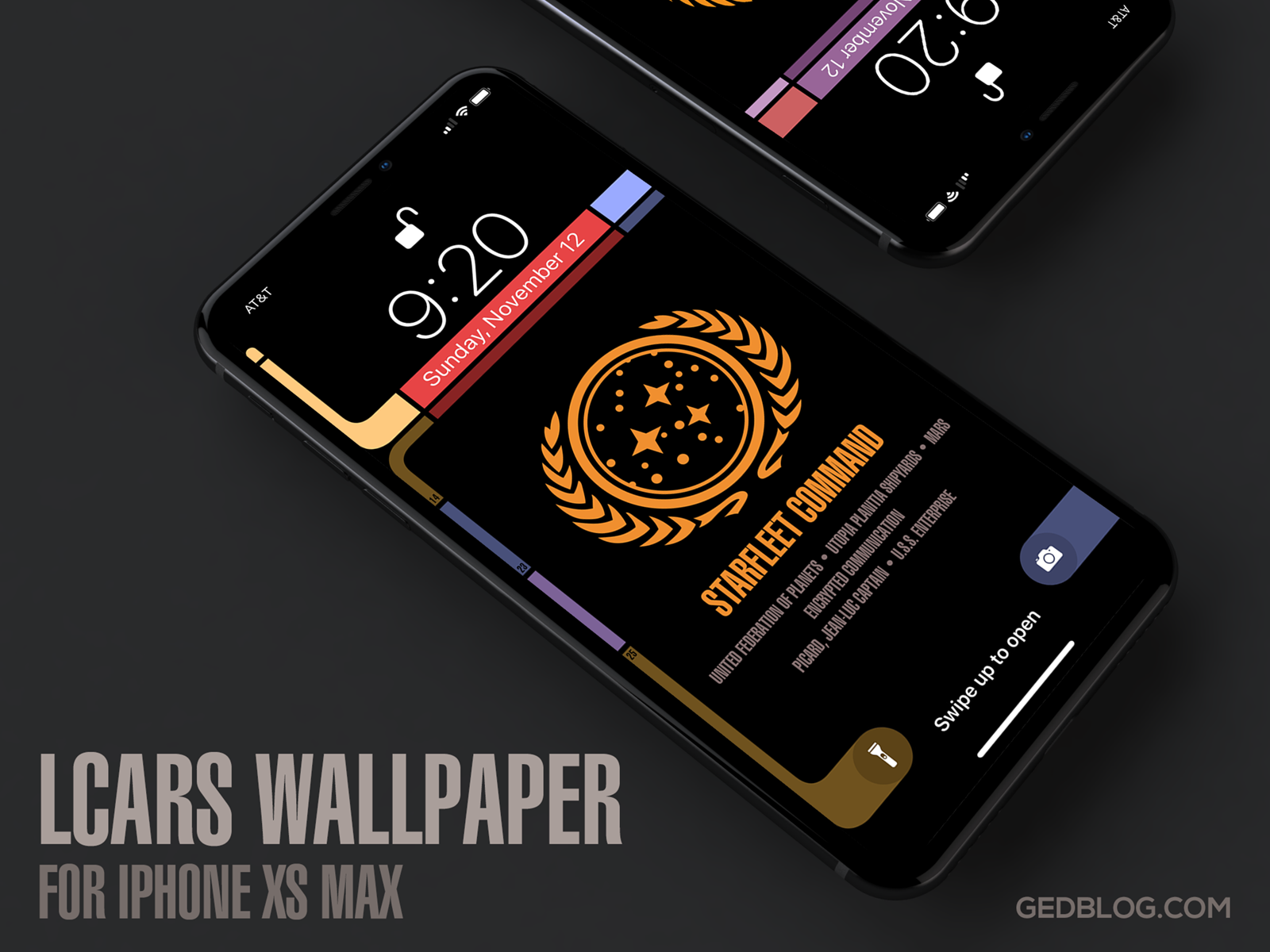 Star Trek Tng Lcars Wallpaper For Iphone Xs Max By Gedeon Maheux