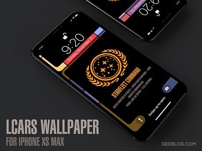 Star Trek TNG LCARS Wallpaper for iPhone Xs Max gedblog ios lcars wallpaper iphone star trek