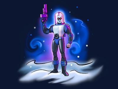 Mr. Freeze linea iconfactory ipad illustration batman comics linea sketch