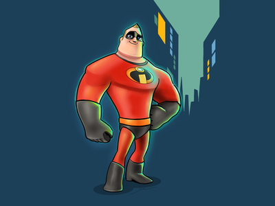Mr. Incredible iconfactory costume super heroes characters illustration pixar ipad pro linea sketch linea