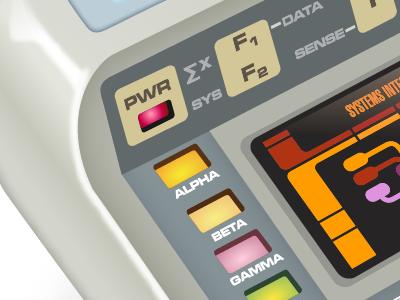 Tricorder Detail illustrator star trek vector iconfactory icon gedeon tng lcars