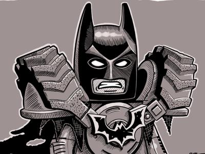 Inktober Day 20: Tread inktober linea sketch linea monochrome toys movies comics batman lego