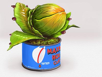 Inktober Day 31: Ripe inktober sketch applepencil ipadpro ipad monster audrey2 plant halloween littleshopofhorrors