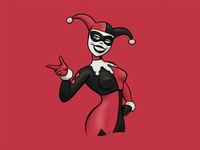 Harley Quinn Digital Sketch comicsart sexy joker femme fatale villain linea sketch illustration harley quinn harley batman comics