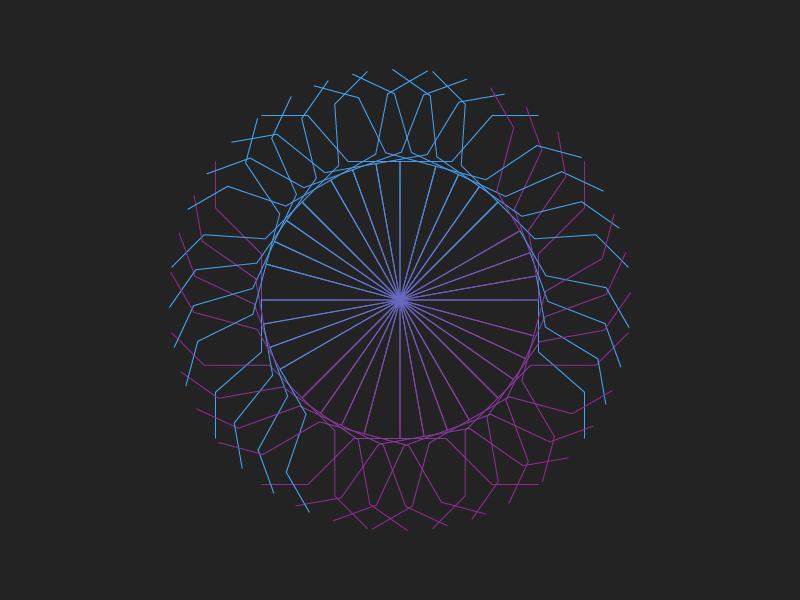 Lightning Circle pattern universe illustration lines circle lightning