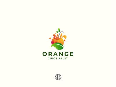 Orange juice logo design icon branding vector logotype logodesign logo design