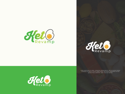 Keto Revamp logo design concept logo smart logo brand elegant weightloss food logo designer logotype keto diet clean modern minimal brand design branding logodesign creative logo