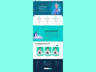 Hospital website Design figmadesign photoshop ux landingpage hospital website design uidesign ui ux ui designer design app