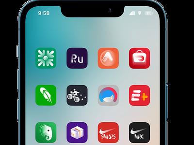 Bi0neiX Thame for your iPhone ux typography vector logo ui illustration icon design branding app