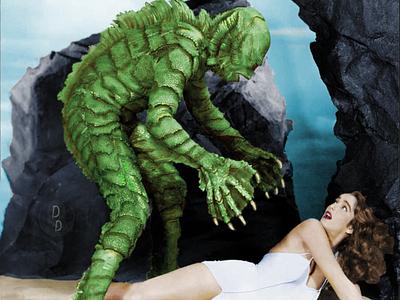 Digital Fine Art: The Creature from The Black Lagoon photography monsters creature from the black lagoon horror horror movie horror art fine art graphic design photoshop art photoshop illustration design