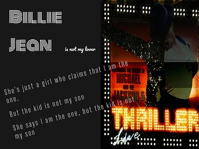 Billie Jean Poster mj poster poster design graphic design design ui favorite song typography poster music mj michael jackson michael jackson - billie jean