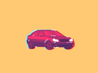 MB C230 poster mercedes car